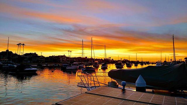 Sunday night sunset in Newport