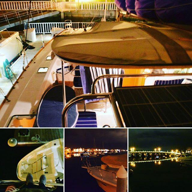 Playing around on the catamaran at night!