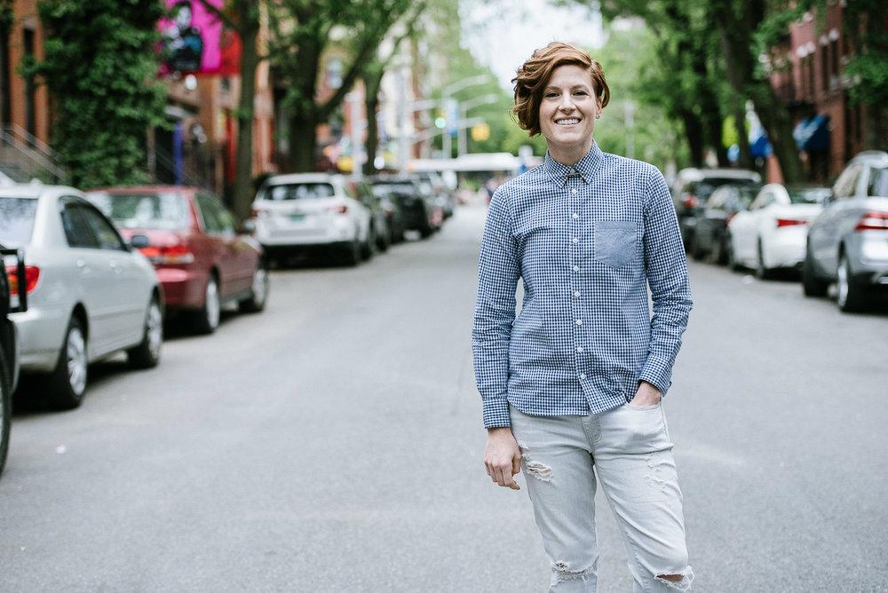 EL's Natasha O'Brien sporting a Kirrin Finch button-up