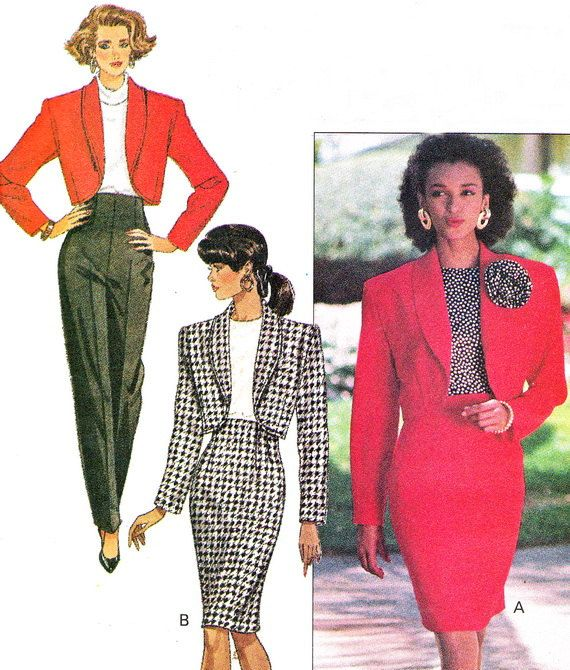 Images of the 1980's power suit sourced from Pinterest