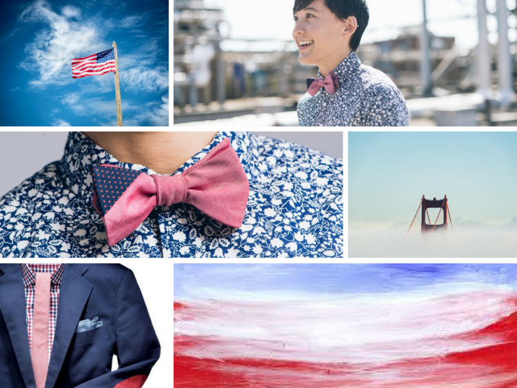 Red, white and blue fashion inspiration