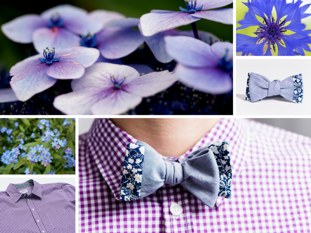 Blue and purple outfit inspiration