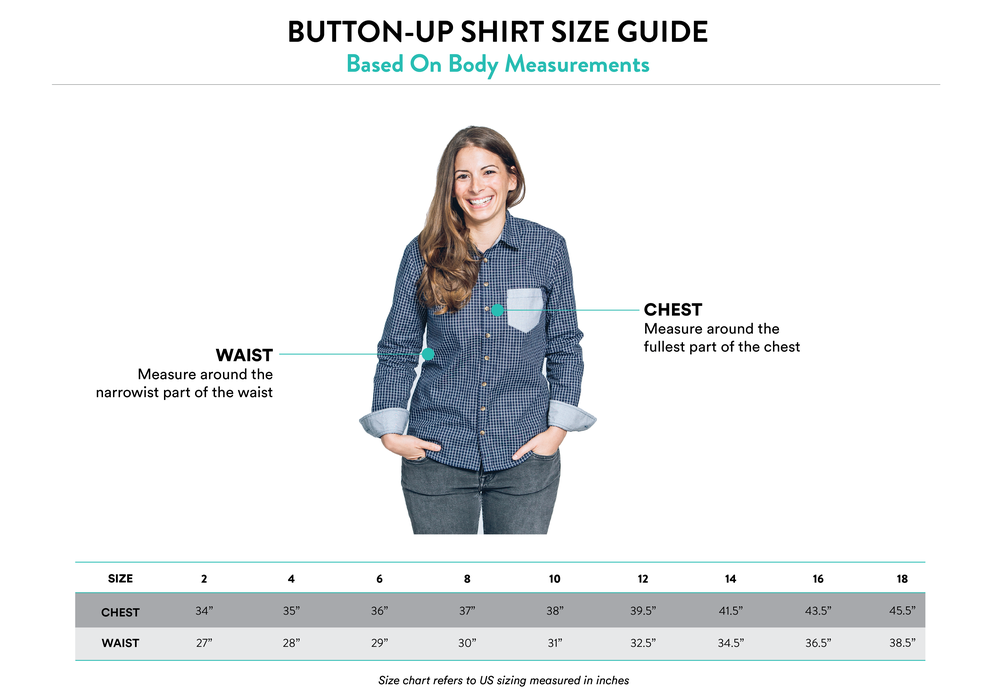 Kirrin Finch Find Your Button Up Shirt Fit Guide