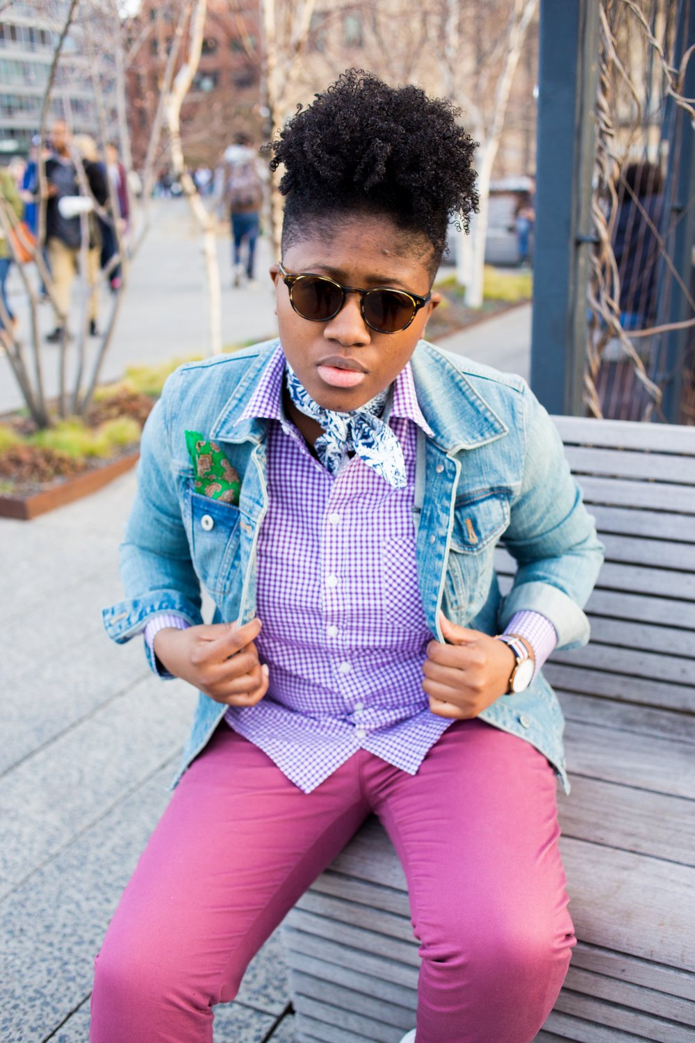 Doreen Pierre In everyday street style in Kirrin Finch