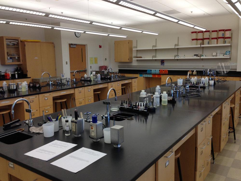 Microbiology laboratory at UC Davis