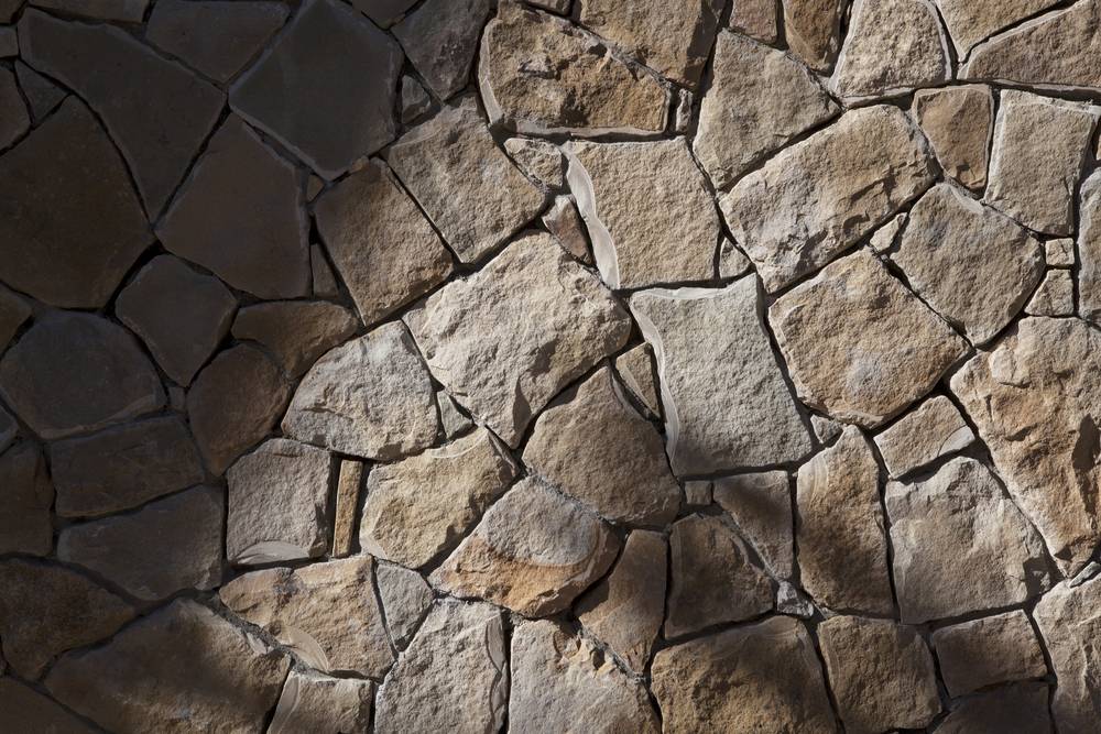Stone facade wall - Topanga Canyon - Los Angeles garden design by Campion Walker Landscapes