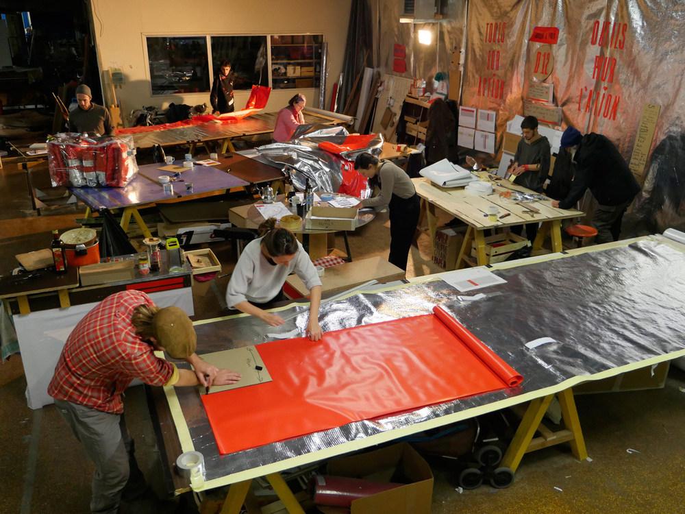 The workshop space at Jardin d'Alice