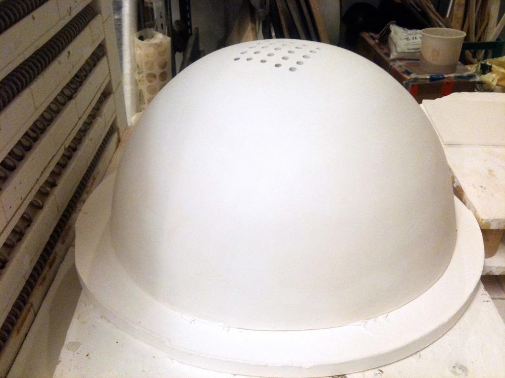 Porcelain sink in construction