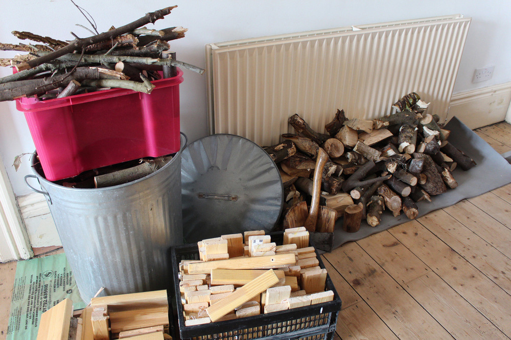 Wood collected and dried
