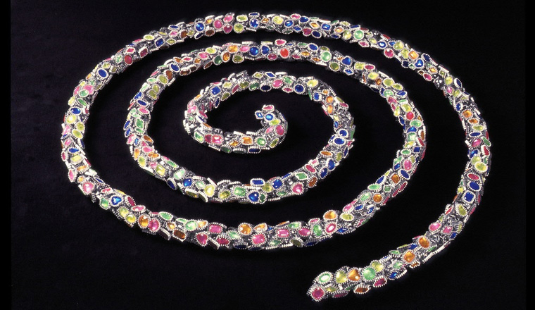 """Rope of Rings  , 2003 Plastic, aluminum wire and monofiliment, dimensions variable, 50"""" diameter as shown"""
