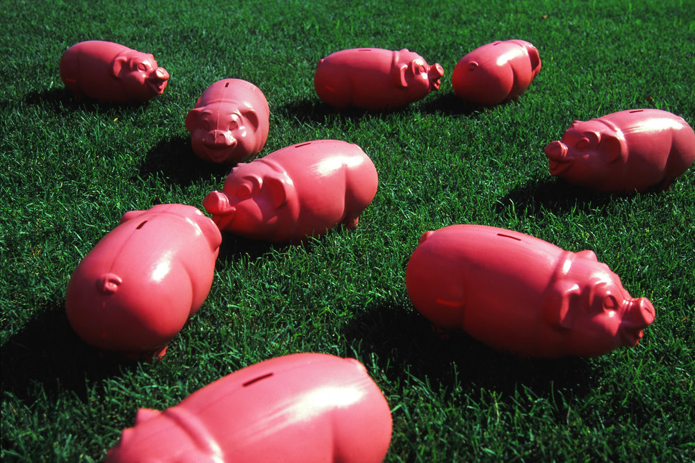 Abandoned Pigs  , 2003 Site-specific work Battery Park City, New York