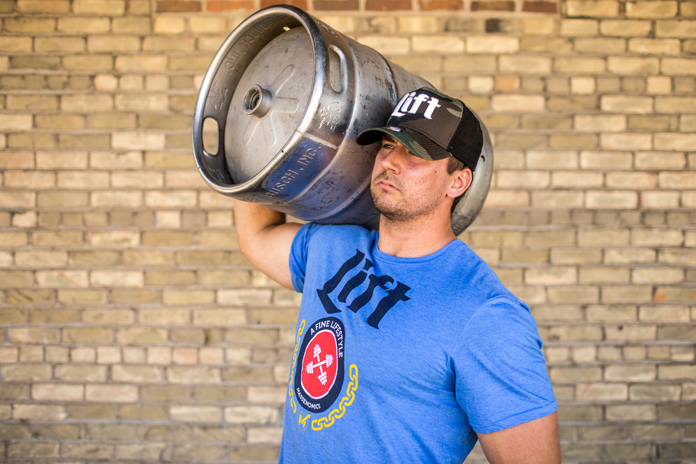 Get yourself some of our shirts and hats.  Perfect for strongmen.