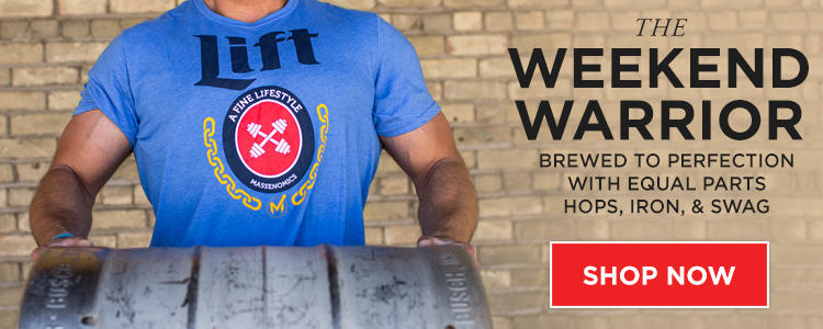 Our shirts and hats go great with strongman training.  Click the picture!