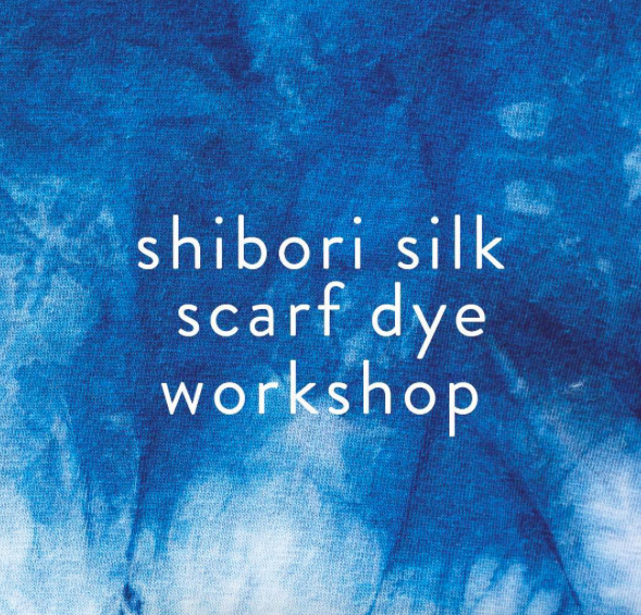 Shibori Silk Scarf Dying Workshop *Sold Out* Come and immerse yourself in the art of Shibori style dyeing and create a beautiful ready to wear resist dyed silk scarf. Charlene will show you different pleats and folds to make your own design and will also demonstrate how to use threads to create beautiful unique patterns. You will leave the workshop with your very own indigo dyed silk scarf – on trend and ready for Autumn. Shibori is a Japanese manual resist dye technique, which produces patterns on fabric. There are an infinite number of ways one can bind, stitch, fold, twist, or compress fabric for shibori, and each way results in very different patterns. Charlene is a London born textile designer and artist. After studying Textile Design in Bristol she assisted fashion stylists on shoots for men's, women's and children's wear.  She has styled for Lacoste, Hugo Boss and Kickers. For the last 5 years she has built a career as an artist educator, facilitating arts events across London for people to enjoy and interact with activities that bring people together.  Tuesday 27th September 2016 from 19:00 to 20:30 Tickets £30 (plus booking fee) Book here