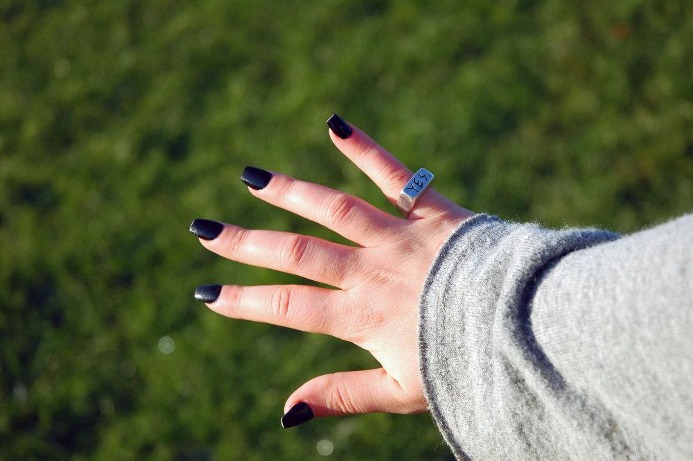 Amanda modelling the YES ring