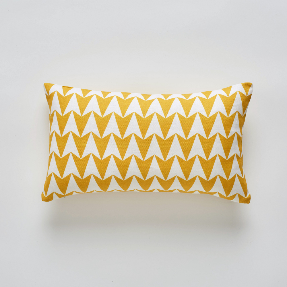 Aldgate East Mustard cushion