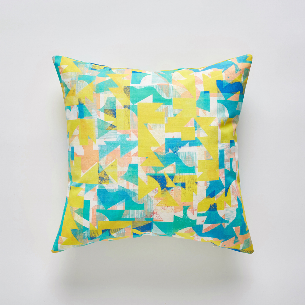 Grapefruit Coast cushion