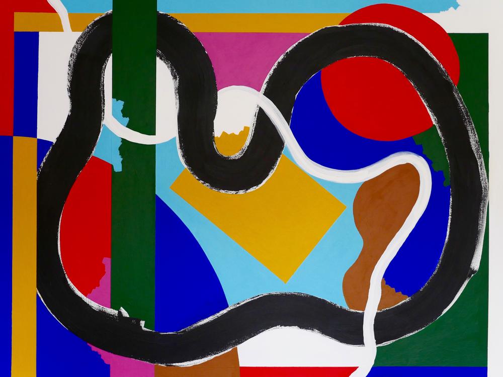"'42nd Street' 48"" X 36"" Acrylic on canvas 2016"