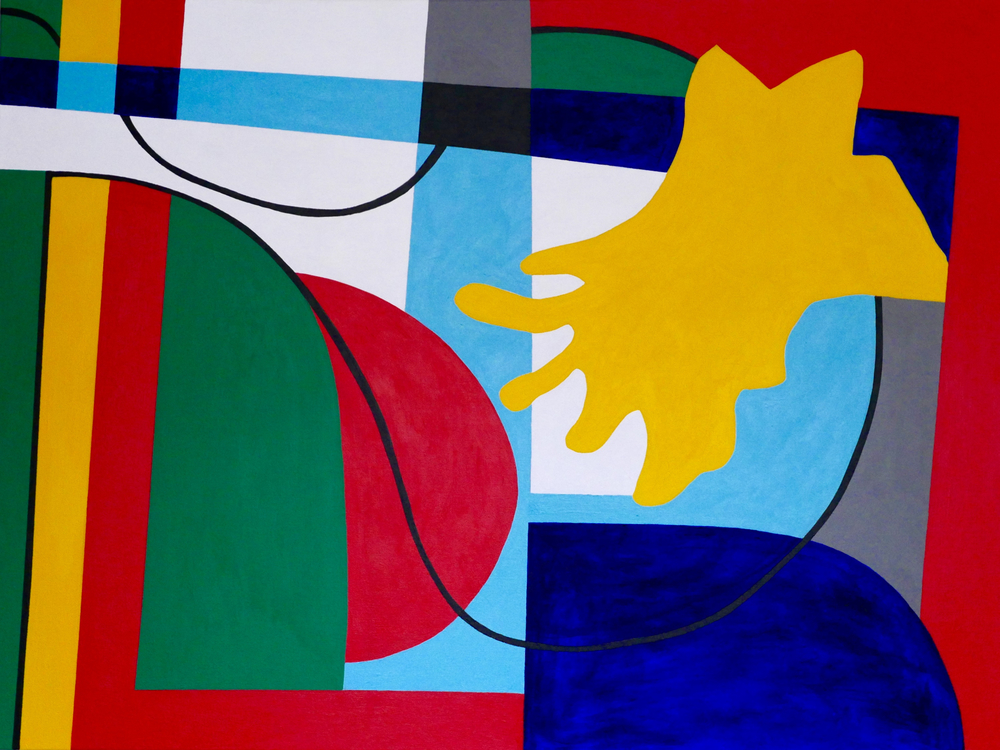 """'Anything Goes' 48"""" X 36"""" Acrylic on canvas 2015"""