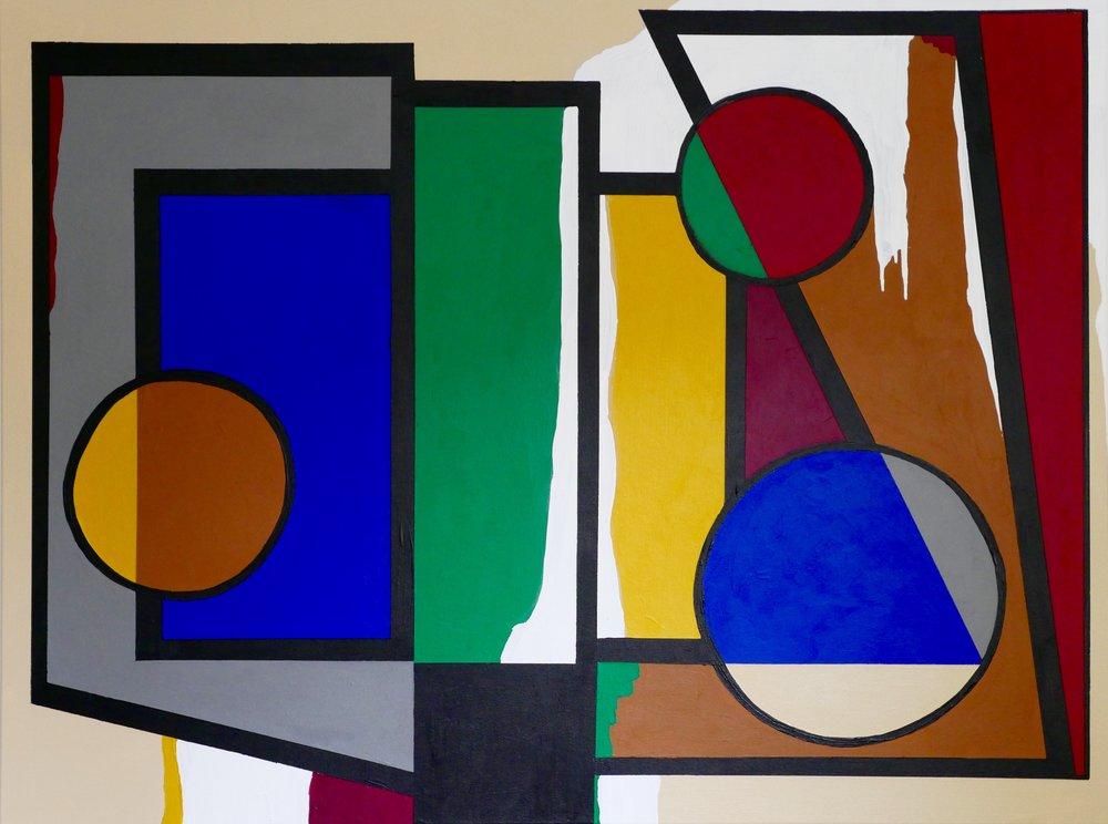 "'Sunday Morning' 48"" X 36"" Acrylic on Canvas"