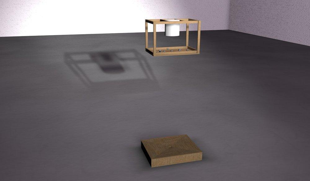 3D model including the basin design for water recapture.