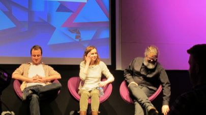 Filmmaker Panel at VRUK- Sam Gage (The Third Floor), Marcy Boyle (Dpyx) and Daniel Harvey (SapientNitro)