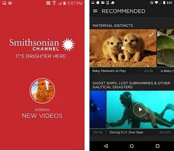 Smithsonian Channel Android App - I worked on the Smithsonian app by implementing the new Chromecast SDK.