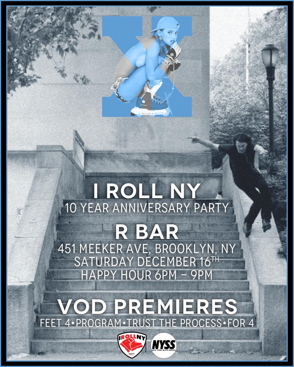 IRollNY 10yr Anniversary Flyer
