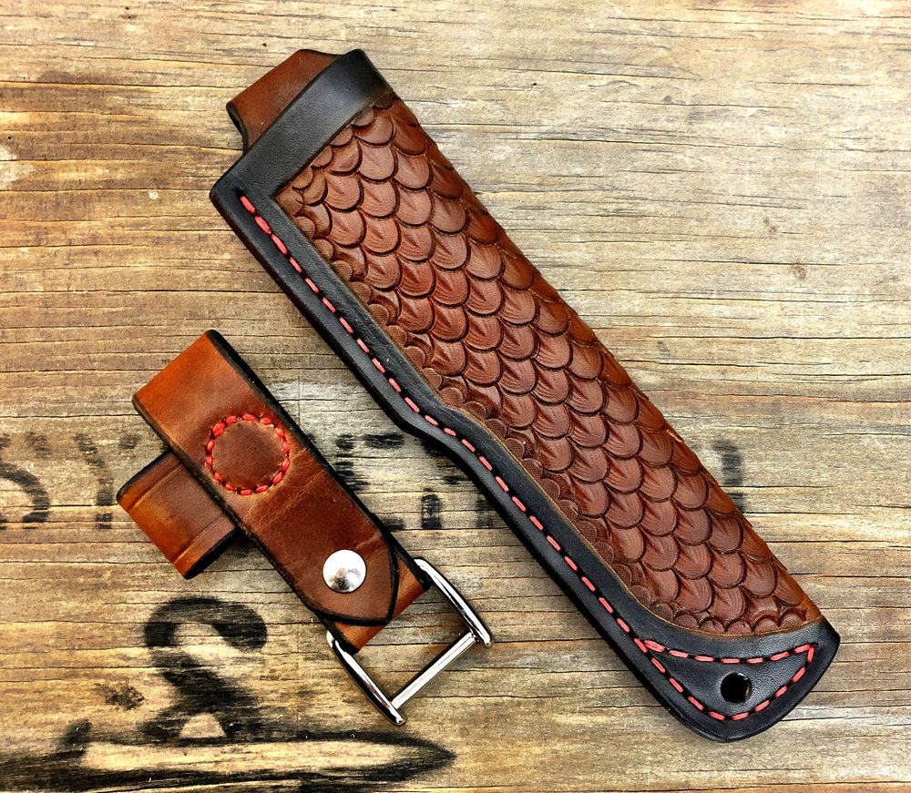 A custom Sheath for Britt Nance of Alone.