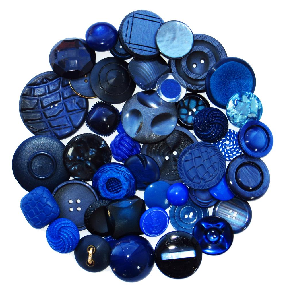 Boutons bleu foncé