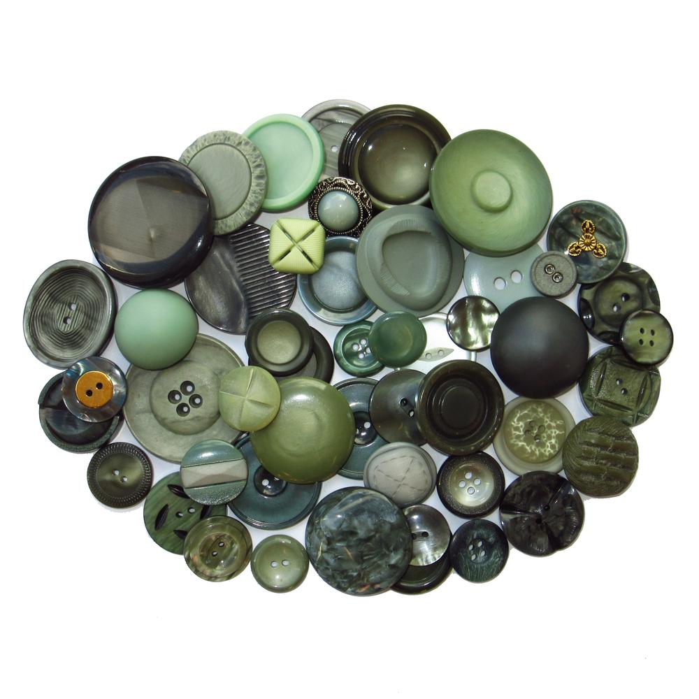 Boutons vert gris