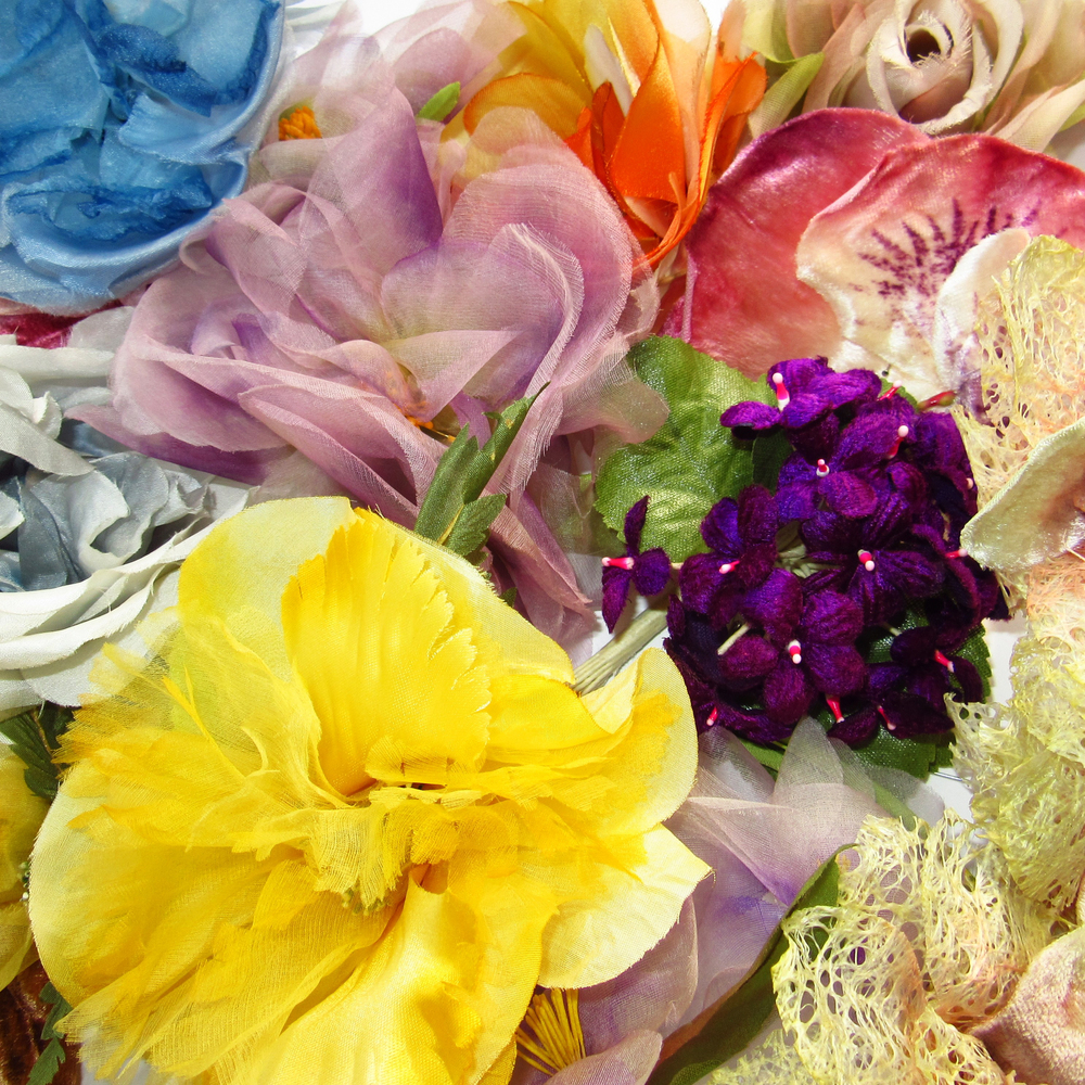 Fleurs rétro