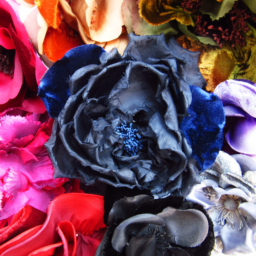 Fleurs en velours