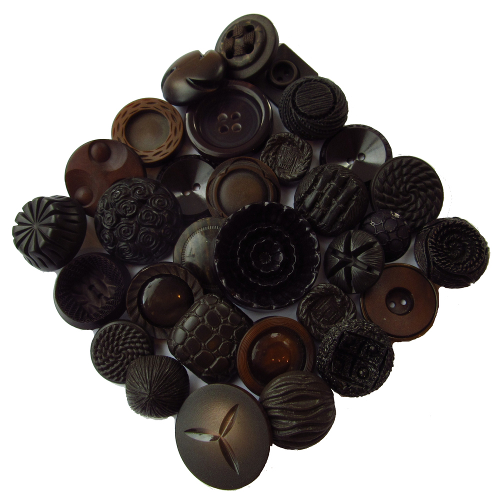 Dark brown buttons