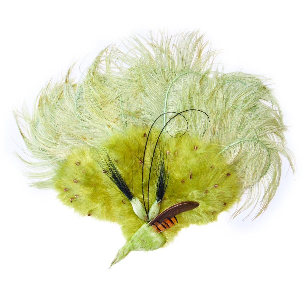 Green apple feathers