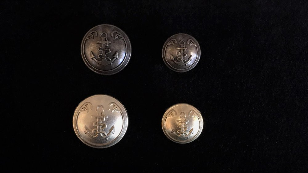 Metal Marine Style Buttons
