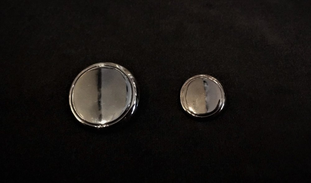 Black Metal Buttons