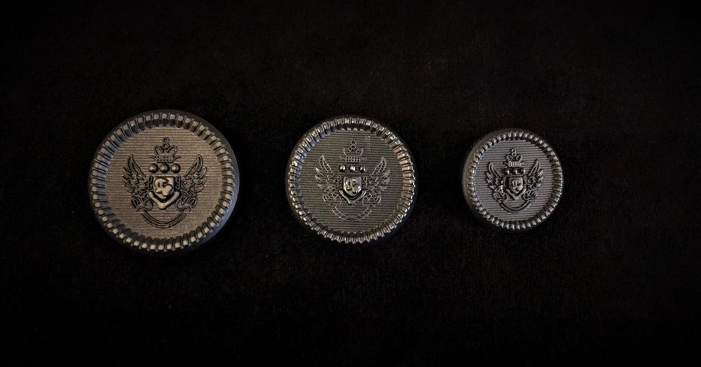 Dark Metal Military Style Buttons