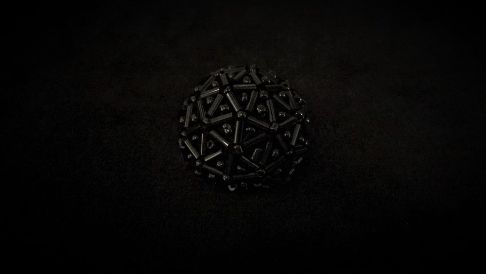 Black Beaded Button