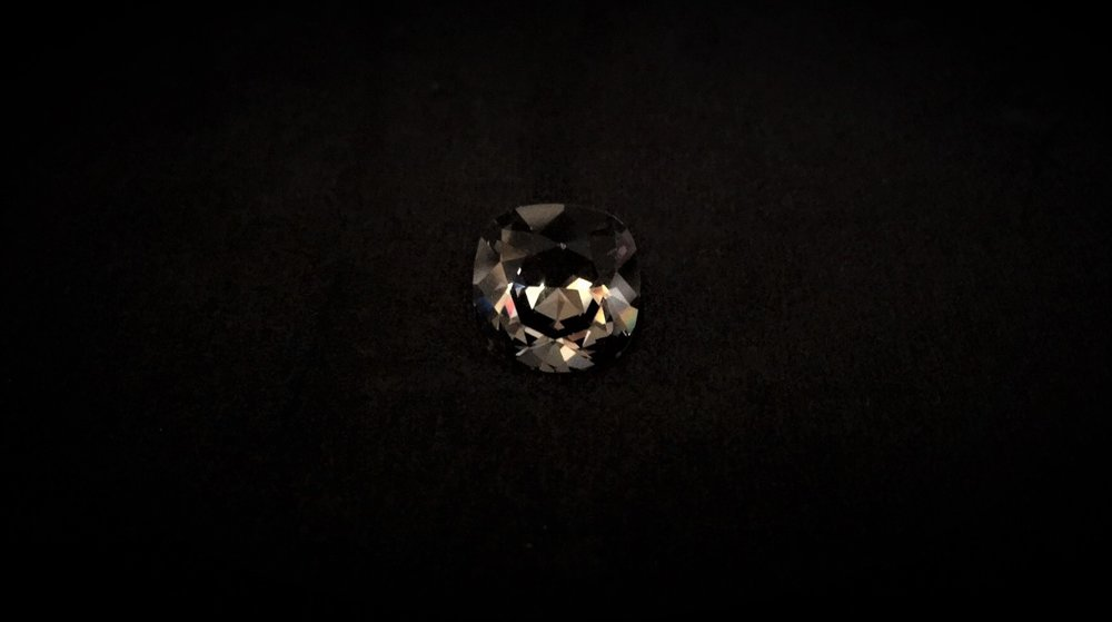 Smoke Swarvaski Crystal Button