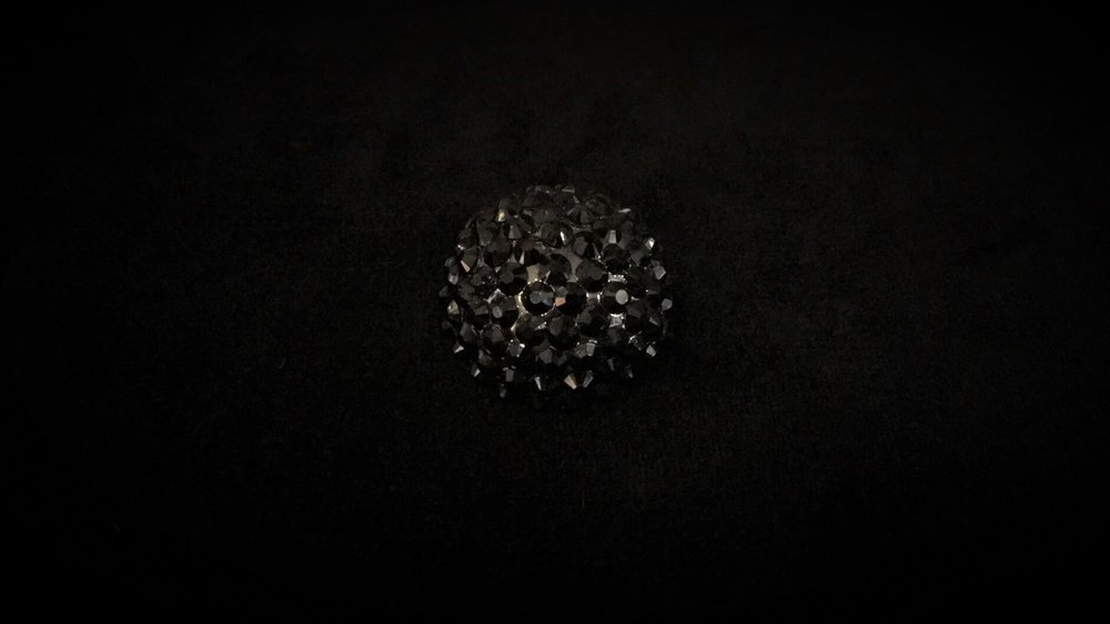 Black Crystal Button