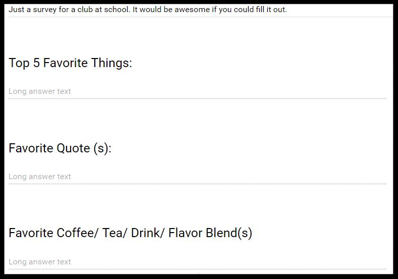 A user survey for idea 1