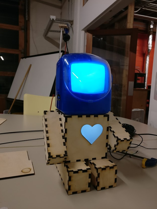 A (hopefully super cute robot) which has a heartbeat and looks around.