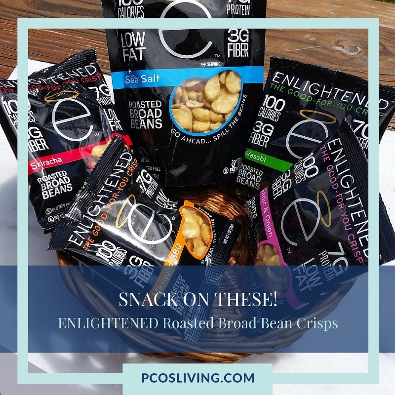 Enlightened Roasted Broad bean Crisps: A healthy snack you won't want to miss. Low Carb Snacks | PCOS Living