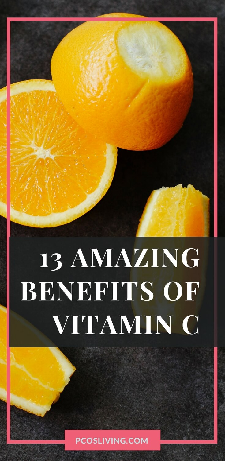 13 amazing benefits of vitamin C // Vitamin C and Your Body // Supplements // PCOS // Best Vitamin C Supplements // Infographic | PCOSLiving.com