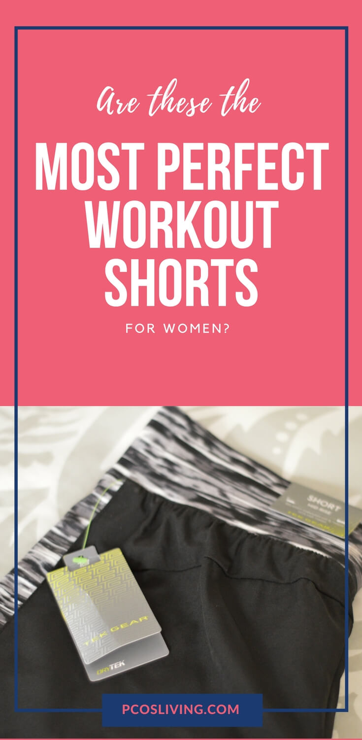 The best workout shorts I've ever found. Women's workout shorts that don't ride up and still look cute. // Workout Fashion // Best Workout Shorts for Women // Best Fitness Apparel | PCOSLiving.com