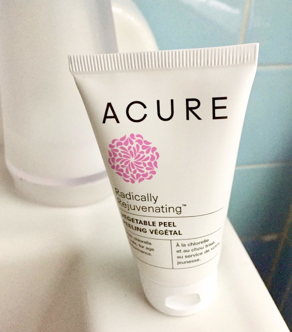 Review of Acure Radically Rejuvenating Vegetable Peel // Gentle skin peel // Acure peel review //Plant based skincare products // Plant based beauty // Non-toxic skincare |  PCOSLiving.com  #acurebeauty #organicskincare
