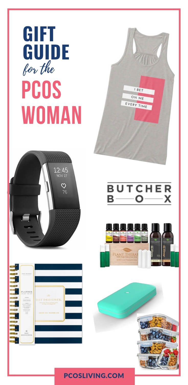 The ultimate gift guide for the PCOS woman // Holiday gift guide for PCOS woman // PCOS essentials // Great gift ideas for women with PCOS // PCOS Products // Fit Girl Gift Guide |  PCOSLiving.com  #PCOS #Giftguide
