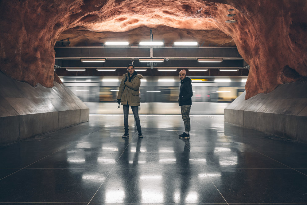I Have wanted to visit these underground stations in Stockholm for a few years now. We actually bought tickets just to wander about various stations but it's worth it. A series of stations unlike anywhere in the world. This particular one was Radhuset.