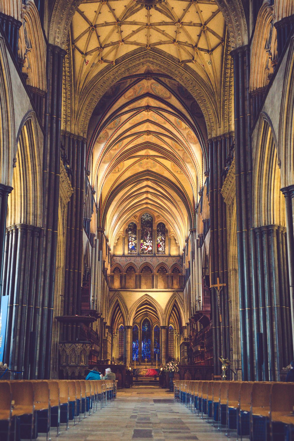Even though I was really pushing a countryside yurt, we stayed in Salisbury on our first proper day off. The tallest church spire in the UK resides in this chilled town. So instead of a picture of the spire here's one of the inside. For all the horrors that religion has created, the architecture is regularly mind boggling.